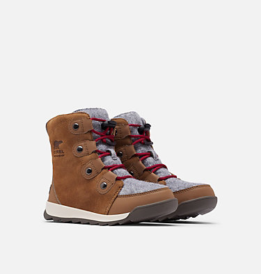 Youth Whitney™ II Suede Boot YOUTH WHITNEY™ II SUEDE | 286 | 1, Brown Flora, 3/4 front