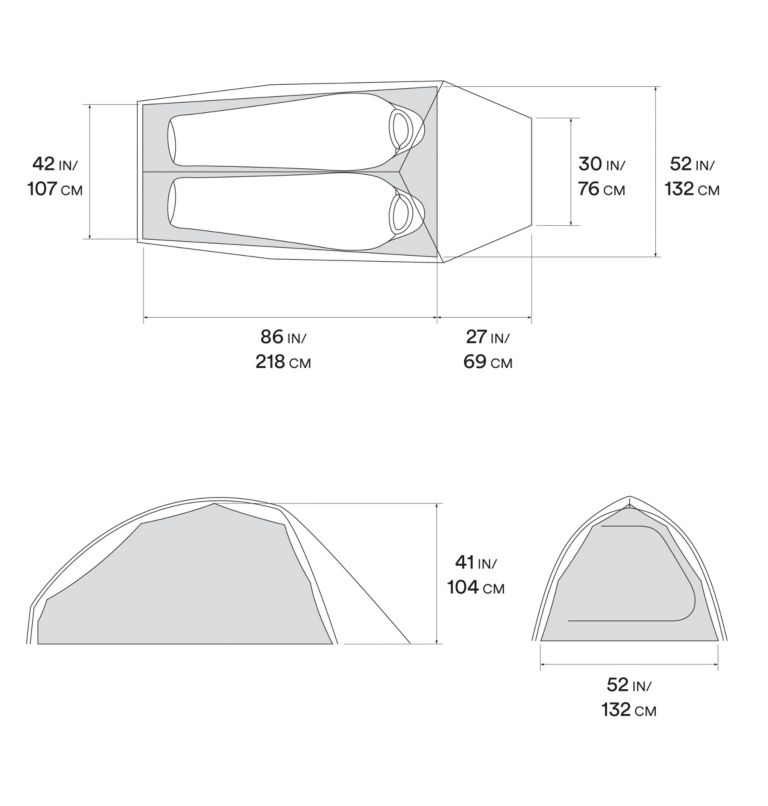 Nimbus™ UL 2 Tent | 107 | O/S Nimbus™ UL 2 Tent, Undyed, a10