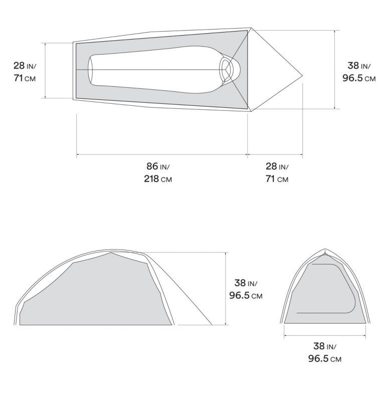 Nimbus™UL 1 Tent | 107 | O/S Nimbus™UL 1 Tent, Undyed, a10