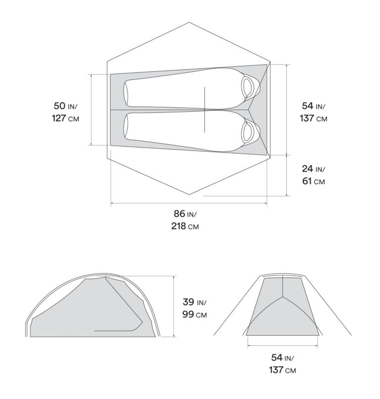 Strato™ UL 2 Tent | 107 | O/S Strato™ UL 2 Tent, Undyed, a10