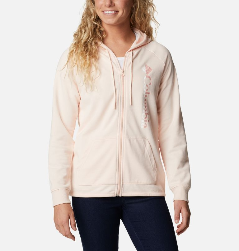 Women's Columbia™ Logo French Terry Full Zip Hoodie Women's Columbia™ Logo French Terry Full Zip Hoodie, front