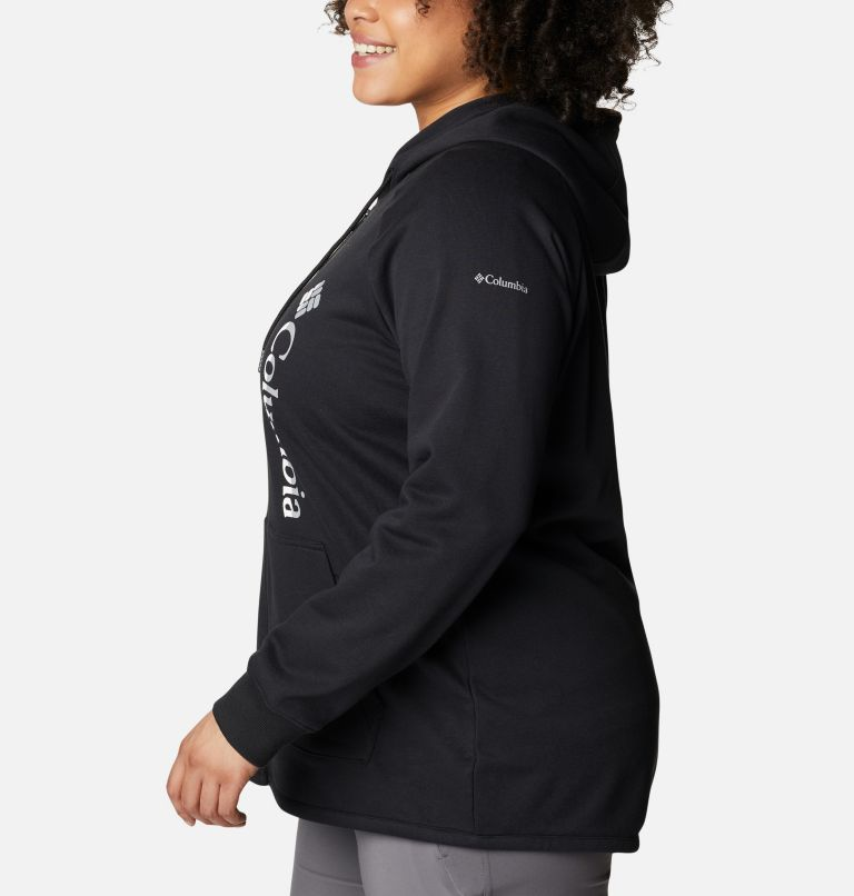 Women's Columbia™ Logo French Terry Full Zip Hoodie - Plus Size Women's Columbia™ Logo French Terry Full Zip Hoodie - Plus Size, a1