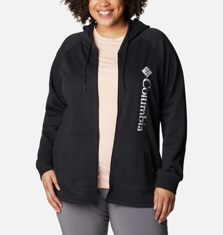Women's Columbia™ Logo French Terry Full Zip Hoodie - Plus Size Women's Columbia™ Logo French Terry Full Zip Hoodie - Plus Size, a3