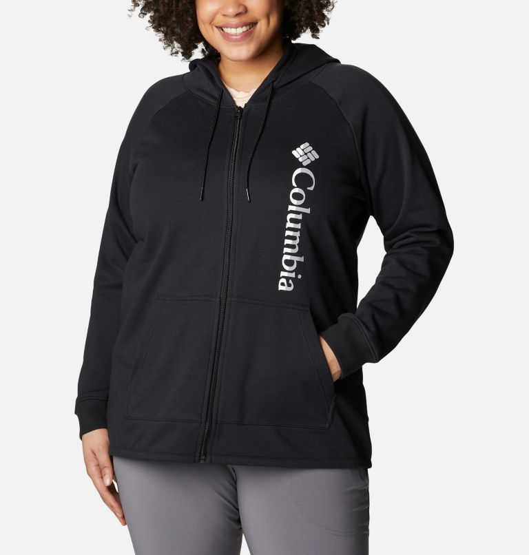 Women's Columbia™ Logo French Terry Full Zip Hoodie - Plus Size Women's Columbia™ Logo French Terry Full Zip Hoodie - Plus Size, front
