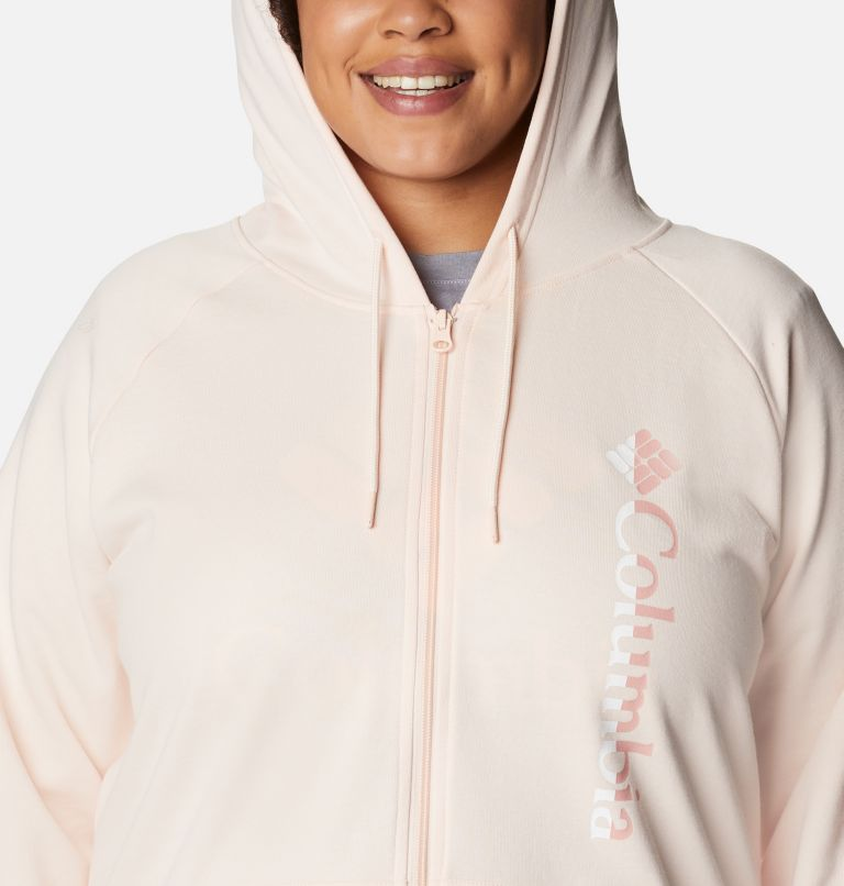 Women's Columbia™ Logo French Terry Full Zip Hoodie - Plus Size Women's Columbia™ Logo French Terry Full Zip Hoodie - Plus Size, a2