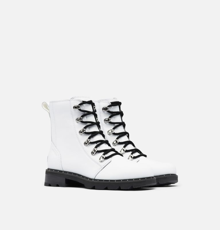 LENNOX™ LACE | 100 | 7 Women's Lennox™ Lace Boot, White, 3/4 front