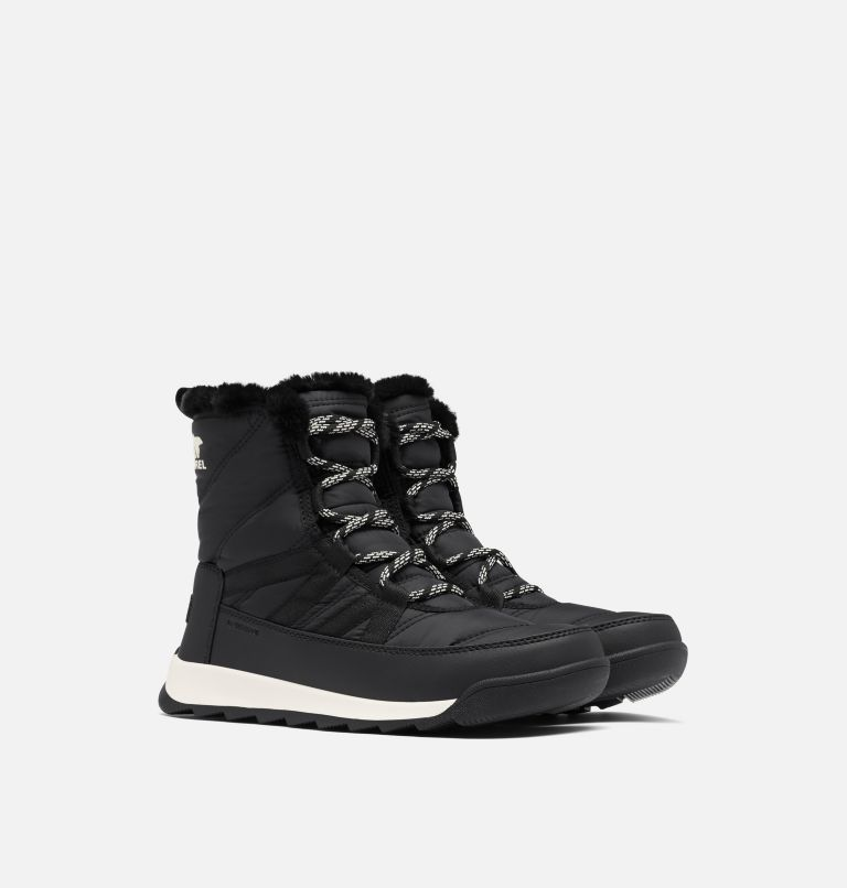 WHITNEY™ II SHORT LACE   010   5.5 Women's Whitney™ II Short Lace Boot, Black, 3/4 front