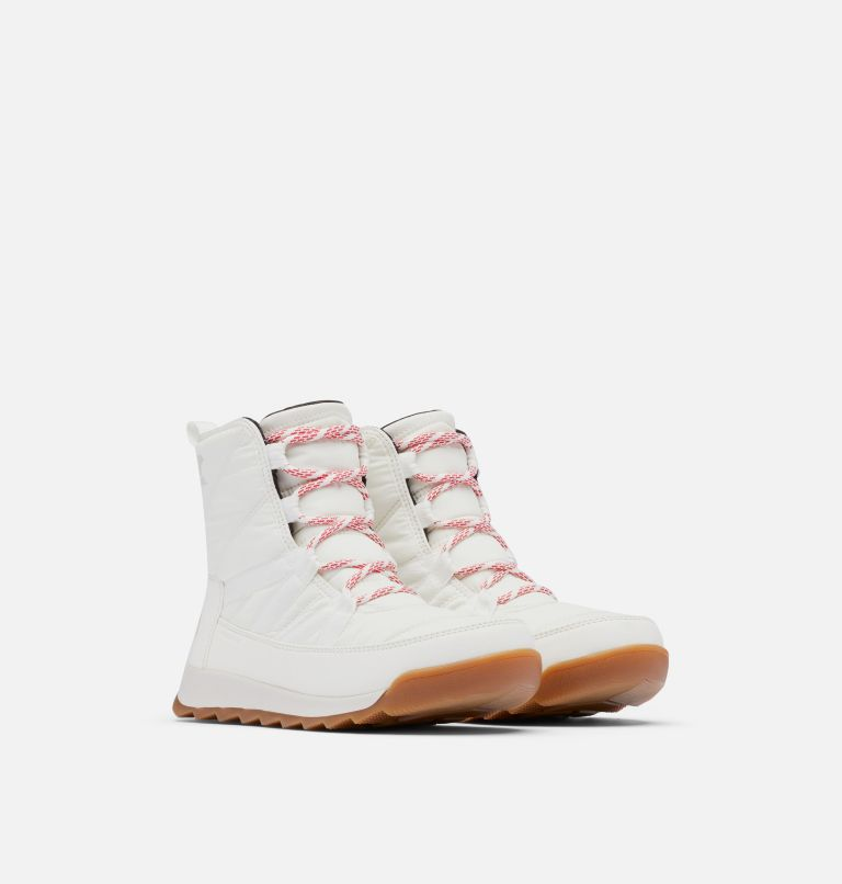 WHITNEY™ II SHORT LACE WP | 192 | 9.5 Women's Whitney™ II Short Lace Boot, Blanc, Fawn, 3/4 front