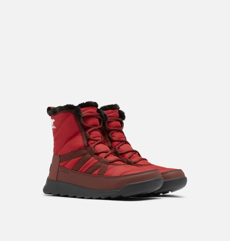 WHITNEY™ II SHORT LACE | 660 | 9.5 Women's Whitney™ II Short Lace Boot, Red Dahlia, 3/4 front