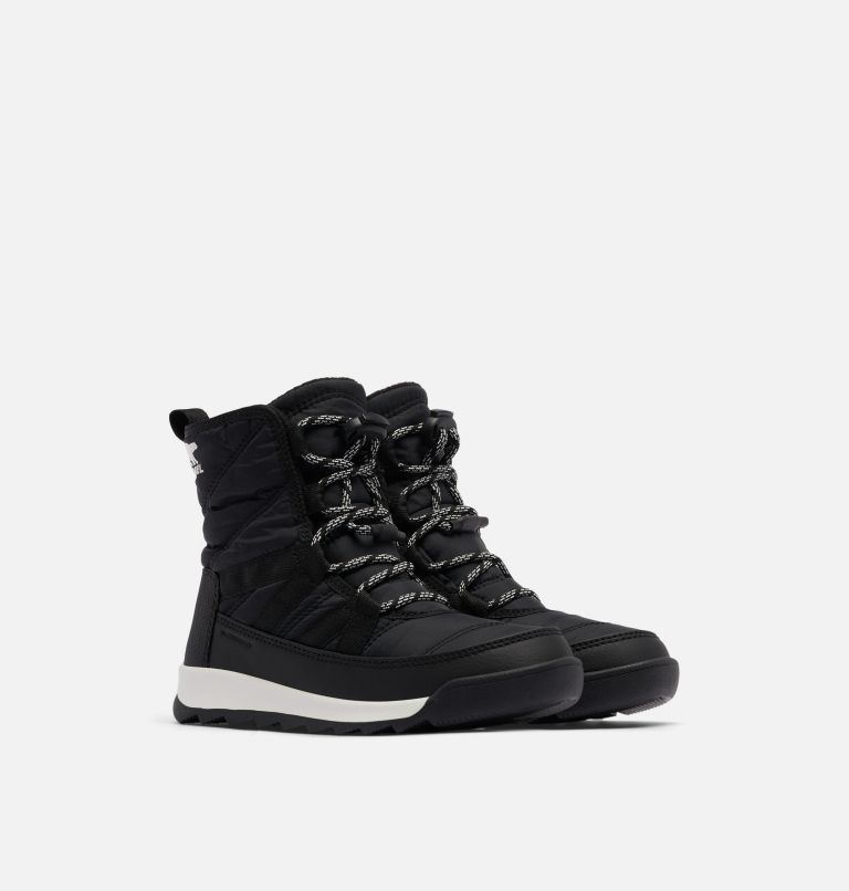 YOUTH WHITNEY™ II SHORT LACE | 010 | 1 Youth Whitney™ II Short Lace Boot, Black, 3/4 front