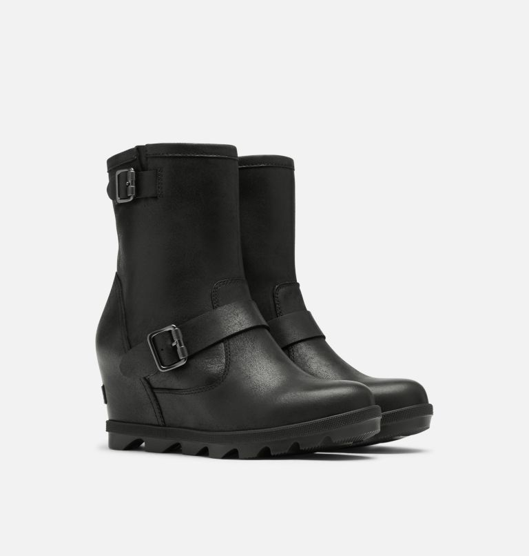 JOAN OF ARCTIC™ WEDGE II BOOT | 010 | 9.5 Women's Joan Of Arctic™ Wedge II Moto Boot, Black, 3/4 front
