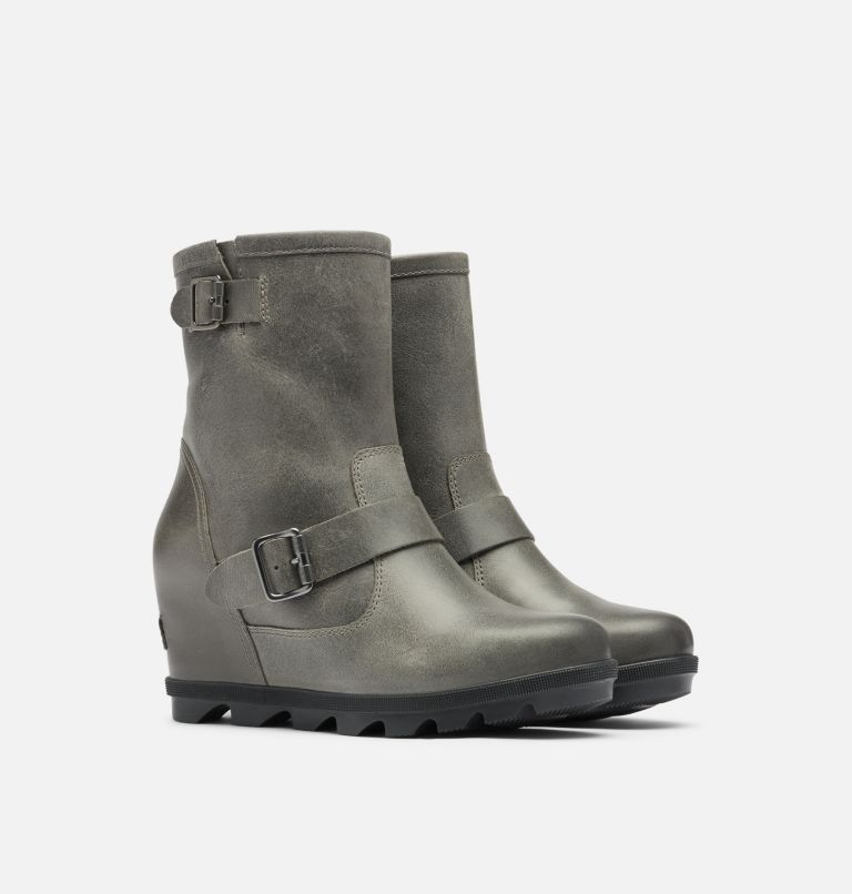 JOAN OF ARCTIC™ WEDGE II BOOT | 052 | 7.5 Women's Joan Of Arctic™ Wedge II Moto Boot, Quarry, 3/4 front