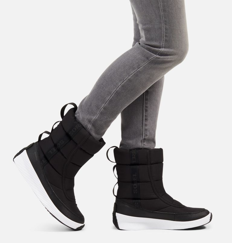OUT N ABOUT™ PUFFY MID | 010 | 7 Women's Out N About™ Puffy Mid Boot, Black, a9