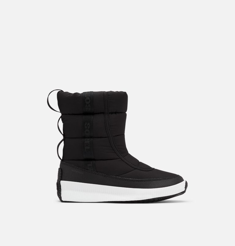 OUT N ABOUT™ PUFFY MID | 010 | 5 Women's Out N About™ Puffy Mid Boot, Black, front