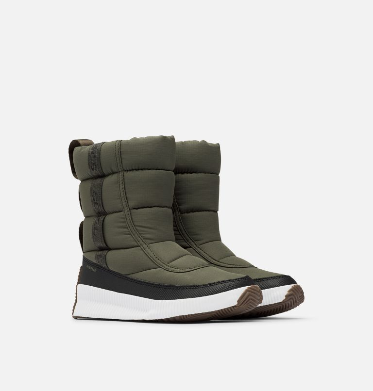 OUT N ABOUT™ PUFFY MID   326   8.5 Women's Out N About™ Puffy Mid Boot, Alpine Tundra, 3/4 front