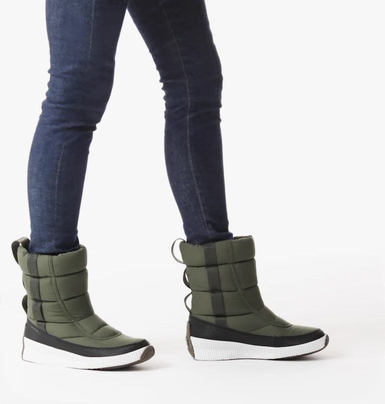 OUT N ABOUT™ PUFFY MID   326   8.5 Women's Out N About™ Puffy Mid Boot, Alpine Tundra, video