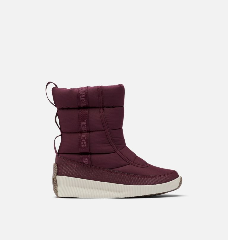 OUT N ABOUT™ PUFFY MID | 543 | 6.5 Women's Out N About™ Puffy Mid Boot, Epic Plum, front