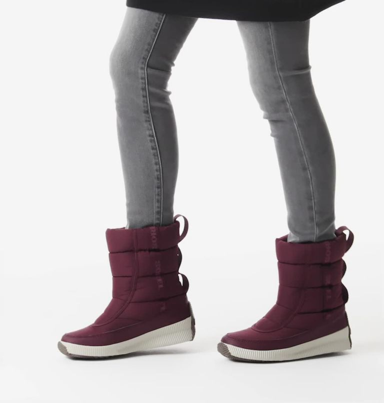 OUT N ABOUT™ PUFFY MID | 543 | 6.5 Women's Out N About™ Puffy Mid Boot, Epic Plum, video