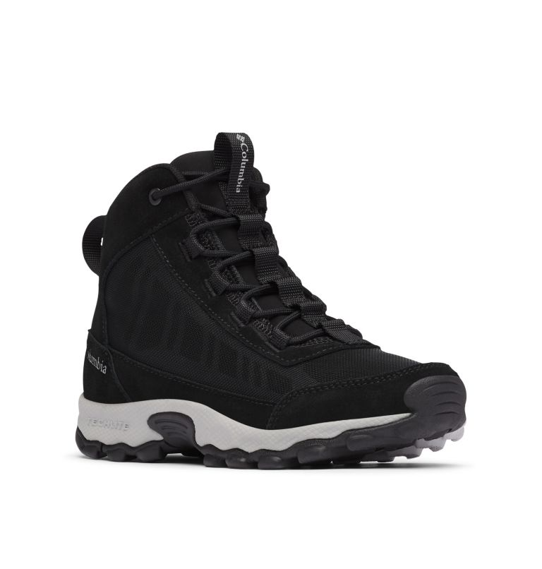 YOUTH FLOW™ BOROUGH MID | 010 | 2 Youth Flow Borough Shoe , Black, Steam, 3/4 front