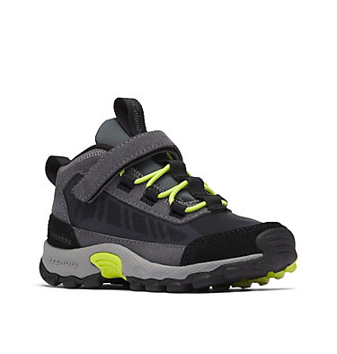 Kids' Flow Borough Shoe CHILDRENS FLOW™ BOROUGH | 053 | 10, Graphite, Acid Green, 3/4 front