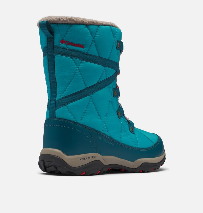 CASCARA™ OMNI-HEAT™ | 330 | 8.5 Women's Cascara™ Omni-Heat™ Boot, Teal, Poppy Red, 3/4 back