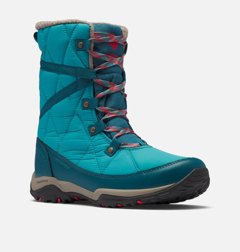 CASCARA™ OMNI-HEAT™ | 330 | 8.5 Women's Cascara™ Omni-Heat™ Boot, Teal, Poppy Red, 3/4 front