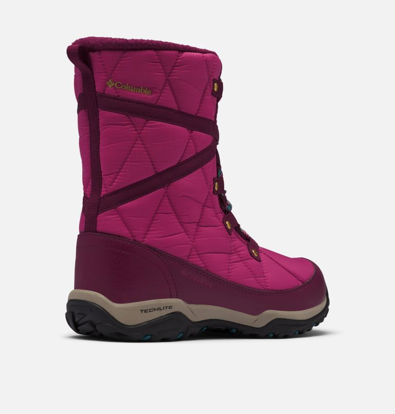 CASCARA™ OMNI-HEAT™ | 642 | 10 Women's Cascara™ Omni-Heat™ Boot, Dark Fuchsia, River Blue, 3/4 back