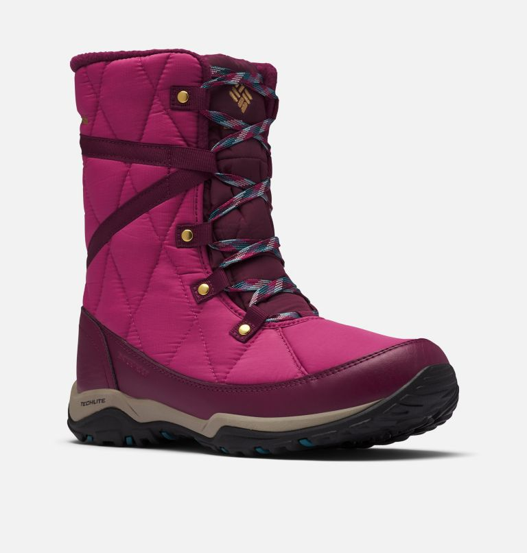 CASCARA™ OMNI-HEAT™ | 642 | 10 Women's Cascara™ Omni-Heat™ Boot, Dark Fuchsia, River Blue, 3/4 front