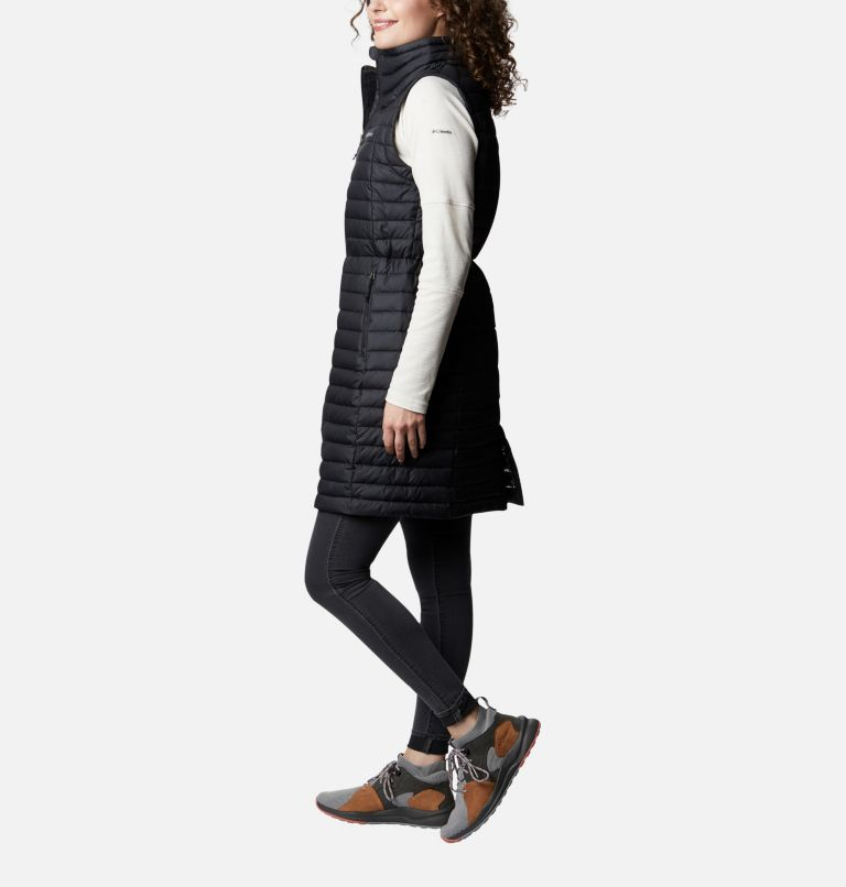 White Out™ Long Vest | 010 | S Veste longue White Out™ pour femme, Black, a1