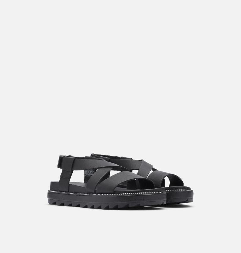 ROAMING™ CRISS CROSS SANDAL | 010 | 6.5 Womens Roaming™ Criss Cross Sandal, Black, 3/4 front