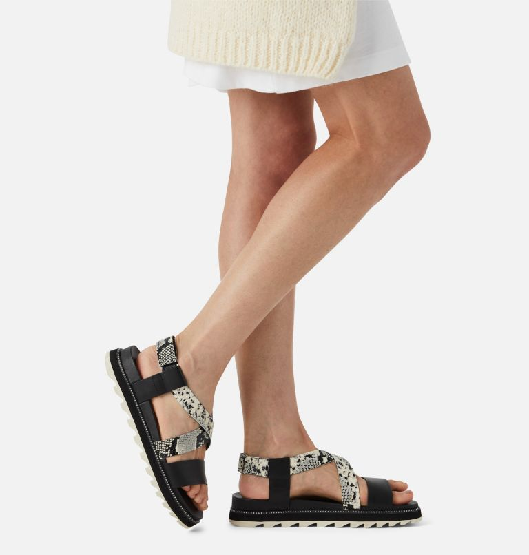 ROAMING™ CRISS CROSS SANDAL | 010 | 10 Womens Roaming™ Criss Cross Sandal, Black, White, a9