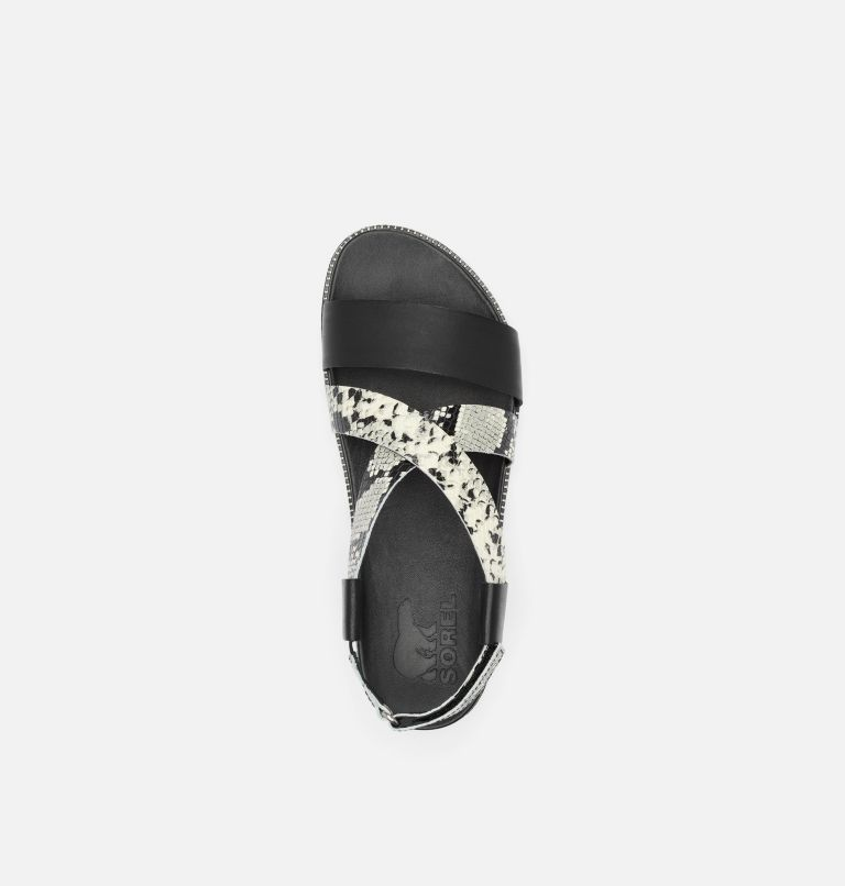 ROAMING™ CRISS CROSS SANDAL | 010 | 10 Womens Roaming™ Criss Cross Sandal, Black, White, top