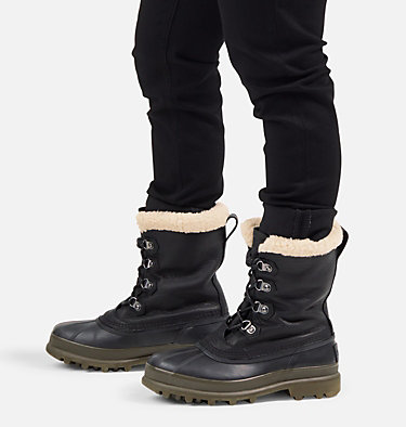 Men's Caribou™ Stack Boot CARIBOU™ STACK WP | 010 | 10.5, Black, video