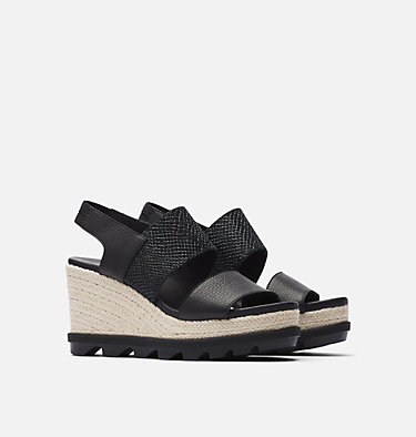 Sandale compensée à lacets Joanie™ II pour femme JOANIE™ II SLINGBACK JUTE | 224 | 10, Black, 3/4 front