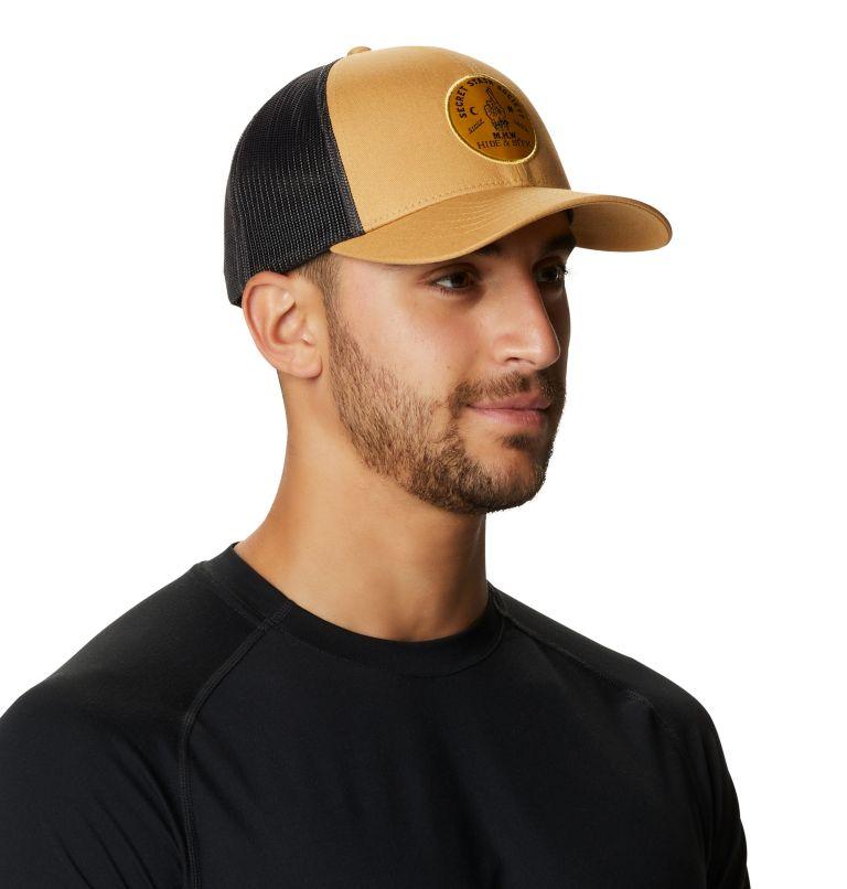 Secret Stash Pt.3™ Trucker Hat   255   O/S Secret Stash Pt.3™ Unisex Trucker Hat, Olive Gold, a1