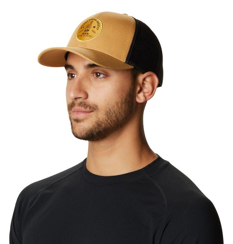 Secret Stash Pt.3™ Trucker Hat   255   O/S Secret Stash Pt.3™ Unisex Trucker Hat, Olive Gold, a3