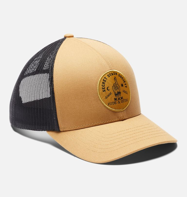 Secret Stash Pt.3™ Trucker Hat   255   O/S Secret Stash Pt.3™ Unisex Trucker Hat, Olive Gold, a4