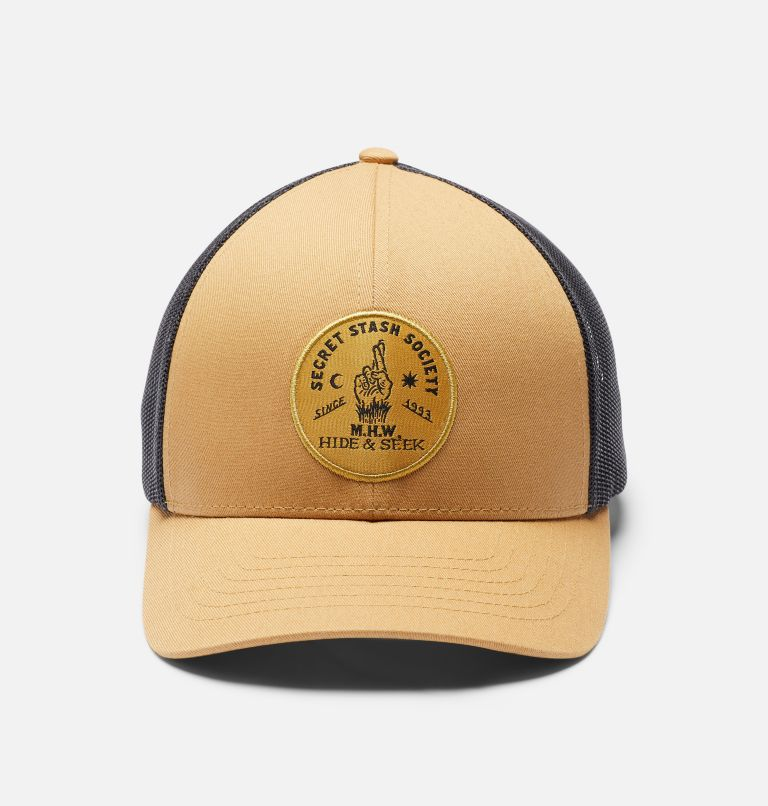 Secret Stash Pt.3™ Trucker Hat   255   O/S Secret Stash Pt.3™ Unisex Trucker Hat, Olive Gold, a6