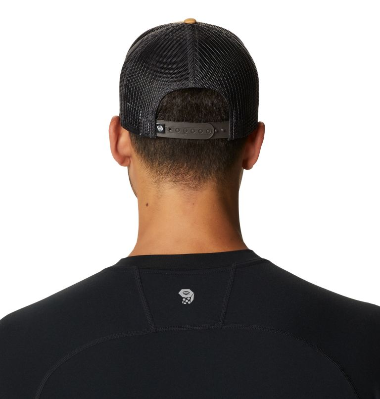 Secret Stash Pt.3™ Trucker Hat   255   O/S Secret Stash Pt.3™ Unisex Trucker Hat, Olive Gold, back