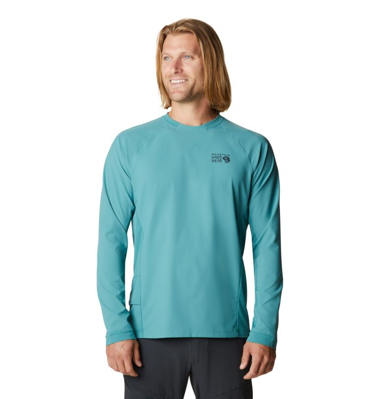 Shade Lite™ LS Crew | 447 | XXL Men's Shade Lite™ Long Sleeve Crew, Washed Turq, front