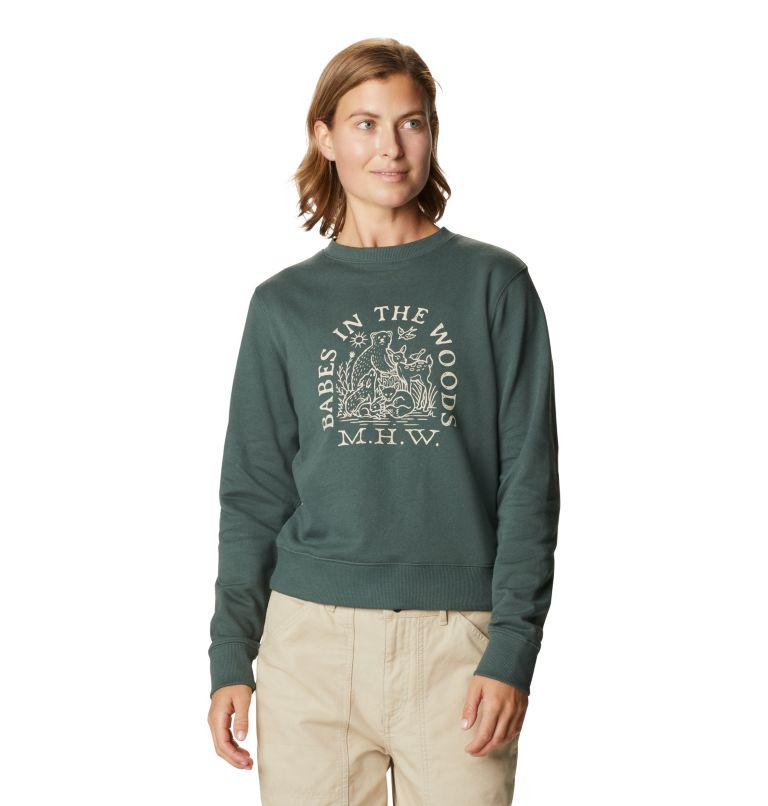 Women's Babes in the Woods™ Crew Sweatshirt Women's Babes in the Woods™ Crew Sweatshirt, front