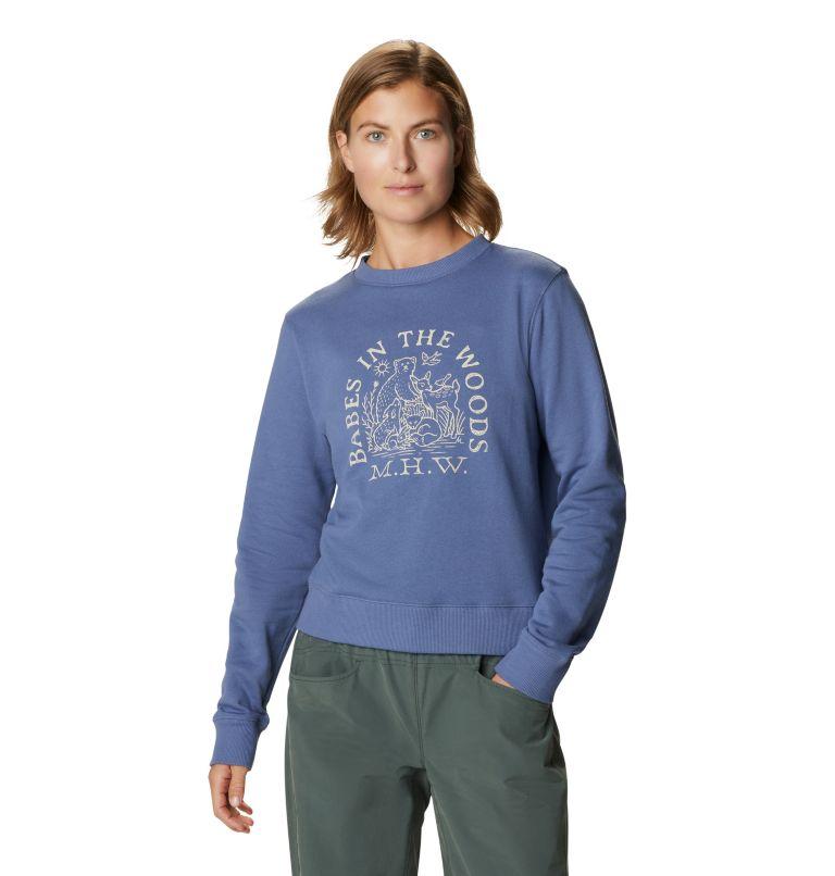 Babes in the Woods™ Crew Sweatshirt | 445 | S Women's Babes in the Woods™ Crew Sweatshirt, Northern Blue, front
