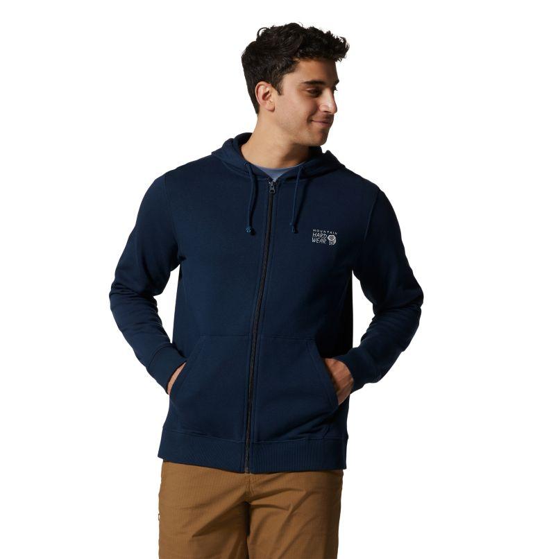 MHW Logo™ Full Zip Hoody | 425 | S Men's MHW Logo™ Full Zip Hoody, Hardwear Navy, a3