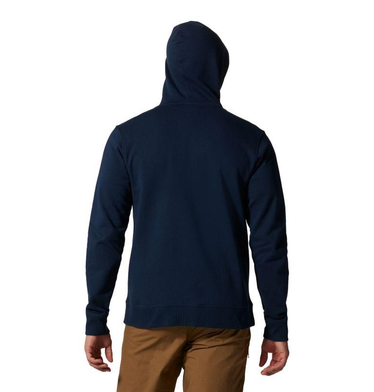 MHW Logo™ Full Zip Hoody | 425 | S Men's MHW Logo™ Full Zip Hoody, Hardwear Navy, back