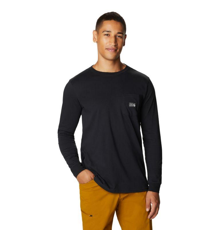MHW Logo™ Label Long Sleeve Pocket T | 010 | XL Men's MHW Logo™ Label Long Sleeve Pocket T-Shirt, Black, front
