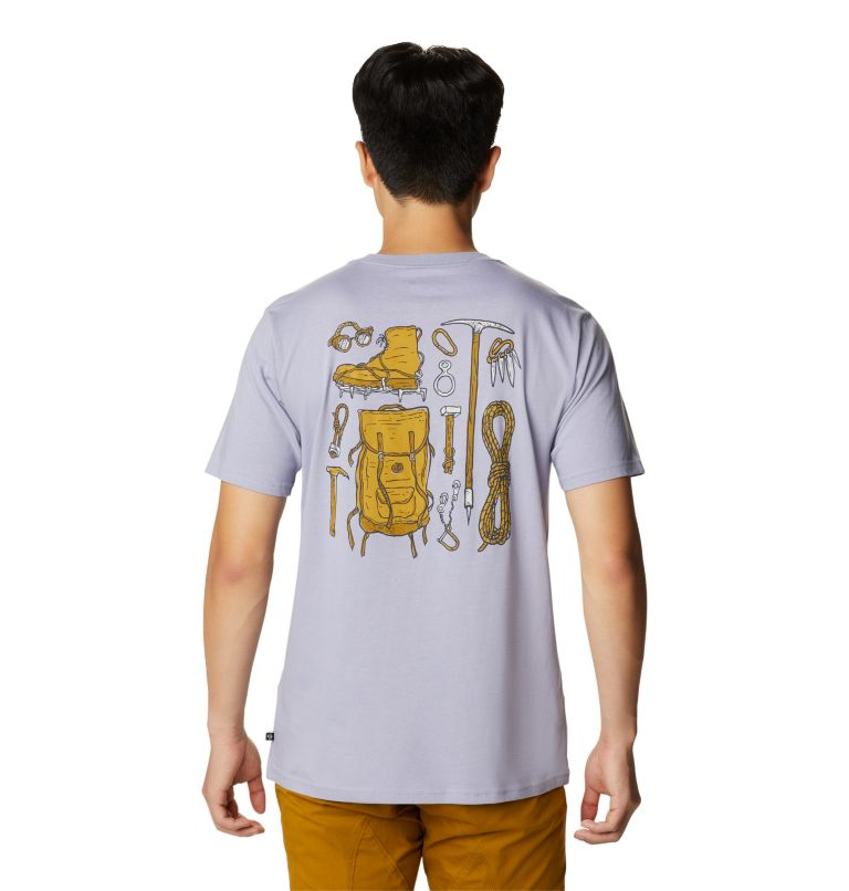 Climbing Gear™ Short Sleeve T | 558 | S Men's Climbing Gear™ Short Sleeve T-Shirt, Frost Grey, back