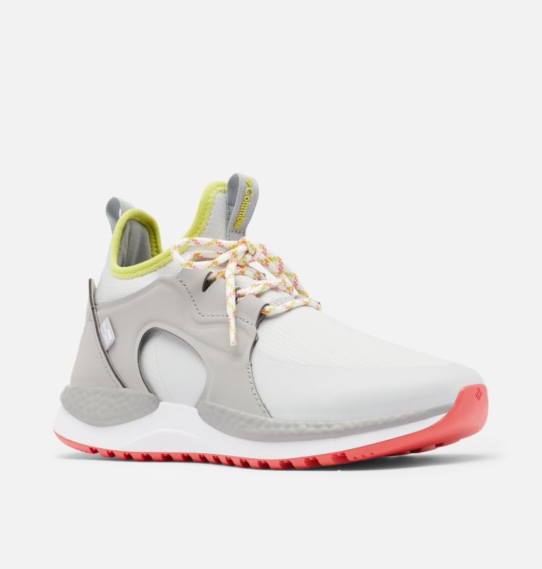 SH/FT™ AURORA OUTDRY™ | 063 | 12 Women's SH/FT™ Aurora OutDry™ Shoe, Grey Ice, Chartreuse, 3/4 front