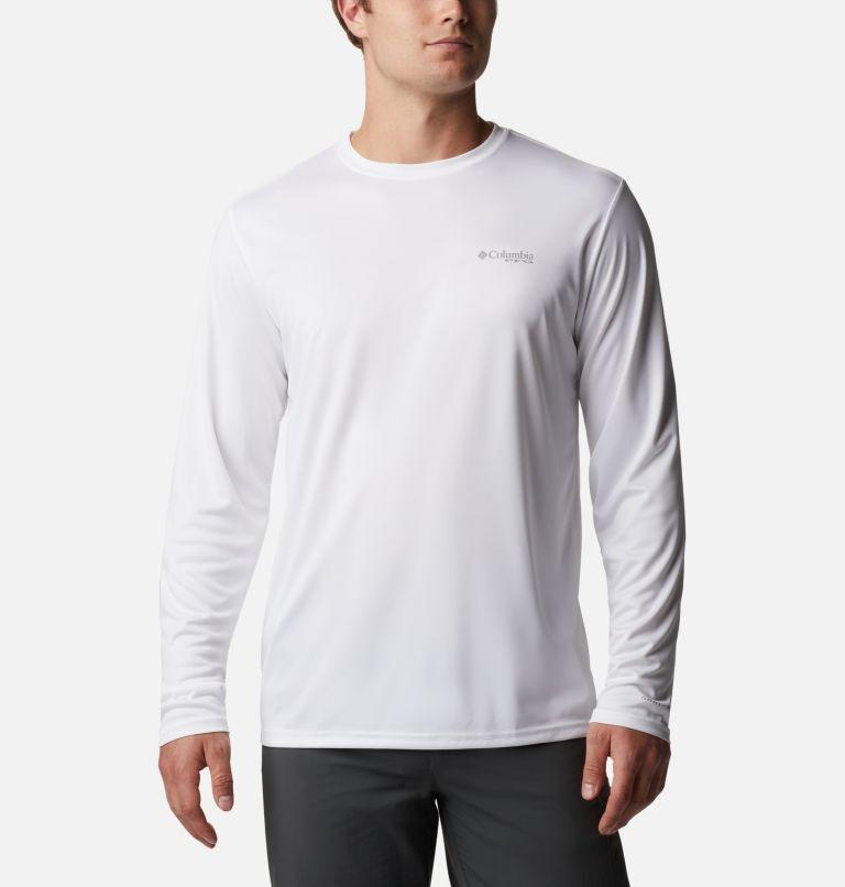 Terminal Tackle PFG™ Carey Chen LS | 100 | XL Men's PFG Terminal Tackle™ Carey Chen Long Sleeve Shirt, White, Tarpon, back