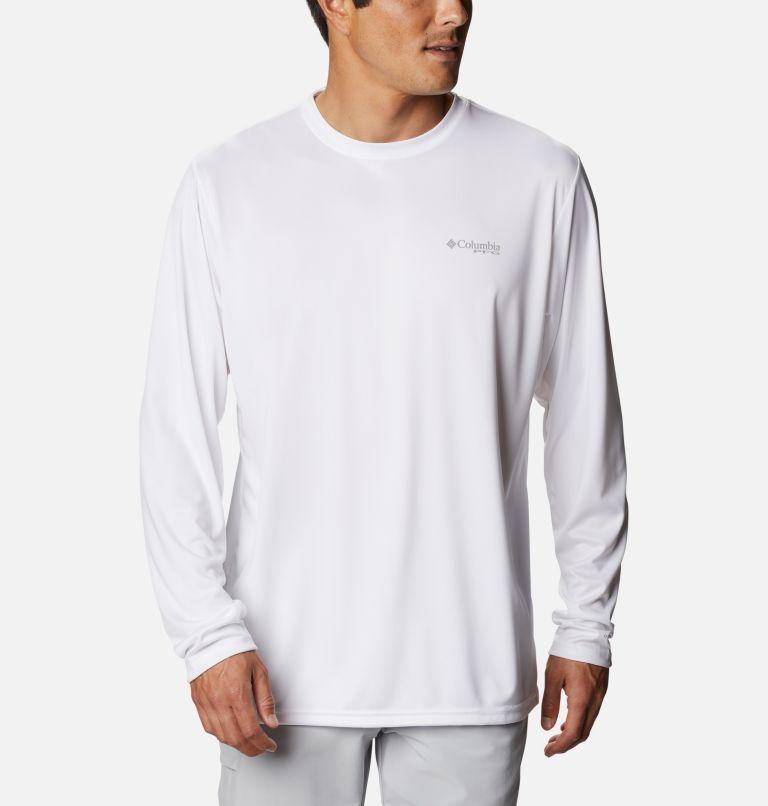 Terminal Tackle PFG™ Carey Chen LS   102   M Men's PFG Terminal Tackle™ Carey Chen Long Sleeve Shirt, White, Sailfish, back