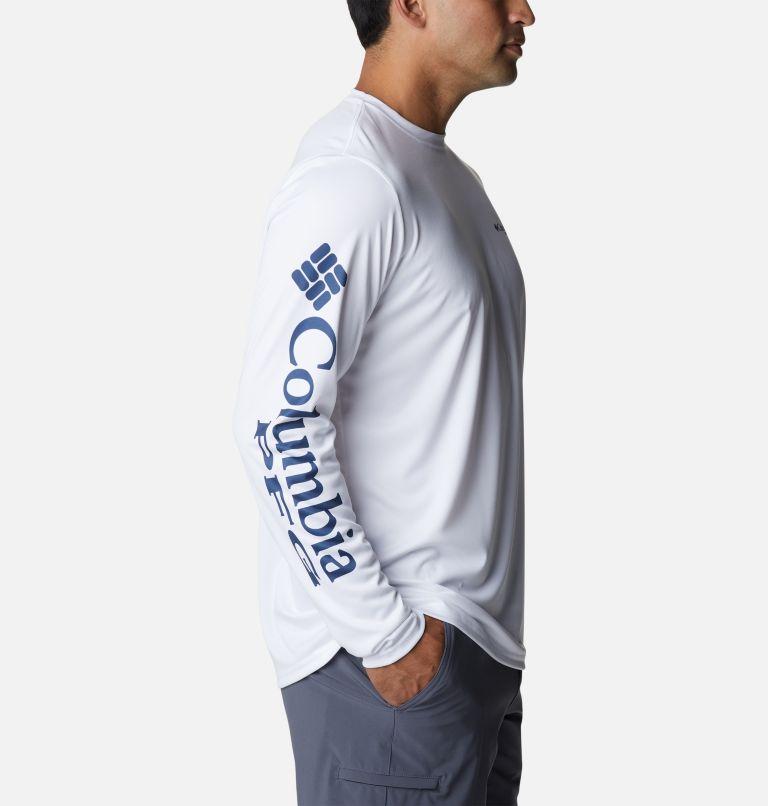 Terminal Tackle PFG™ Carey Chen LS   103   S Men's PFG Terminal Tackle™ Carey Chen Long Sleeve Shirt, White, Dorado, a1